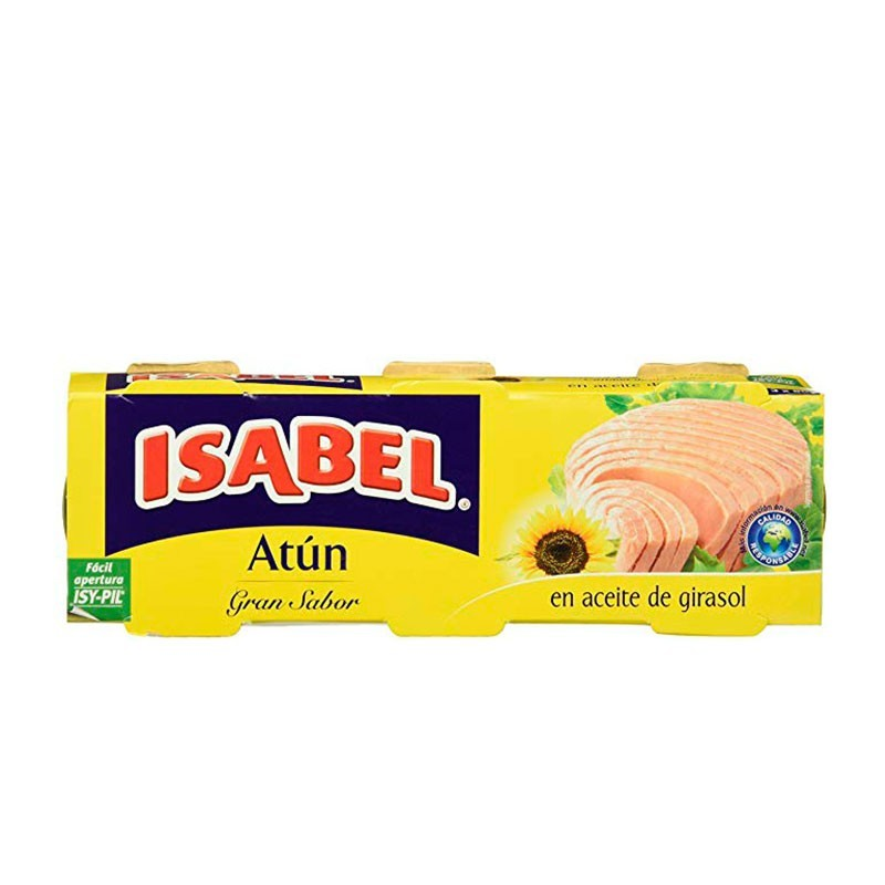 ATUN ACEITE ISABEL (PACK 3)