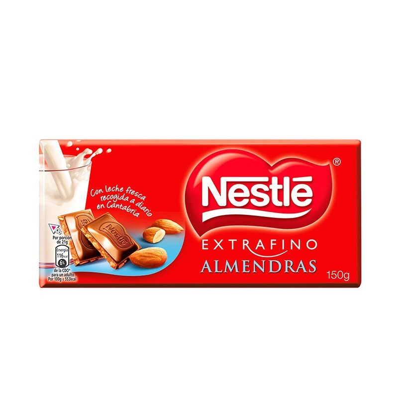 CHOCOLATE CON ALMENDRAS NESTLE