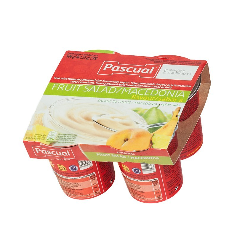 YOGUR SABOR MACEDONIA PACK4...