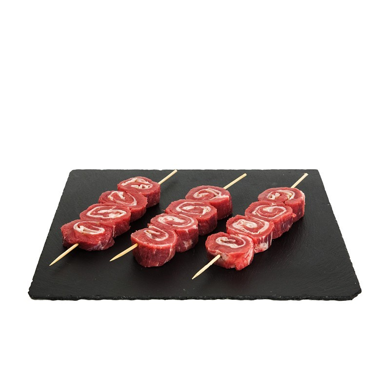 BROCHETAS DE TERNERA CON BACON
